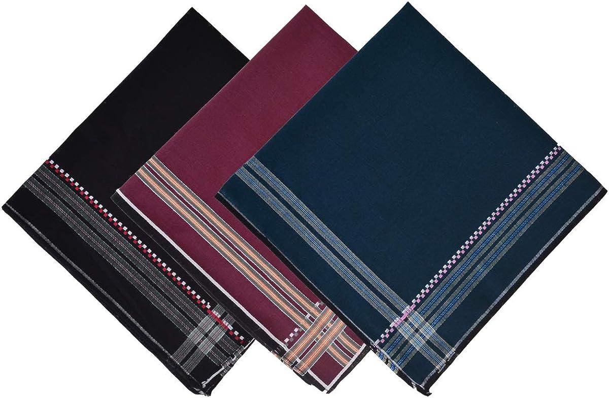 Baitaihem 12 Pack Men's Handkerchiefs Classic Pattern Cotton Men's Hankie