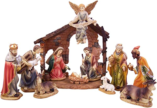 Resin Christmas Nativity Scene 12 Piece Set