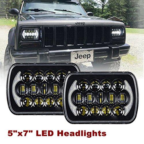 Sxma 12,7 x 17,8 cm sigillato assiale ricambio CREE LED fari con DRL per Wrangler YJ Cherokee XJ H6054 H5054 H6054LL (1 coppia)
