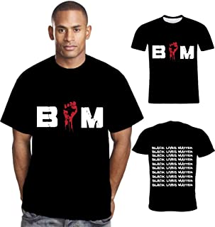 Mens BLM T Shirt Justice Fist Black Lives Matter Shirt I Can't Breathe Black Novelty Melanin Shirt