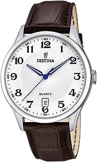 Festina Hommes Analogique Quartz Montre avec Bracelet en Cuir F20426/1