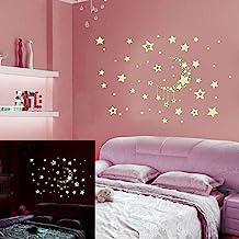 Adesivos de parede, noite estrelada céu lua estrelas faça você mesmo brilham no escuro adesivos luminosos decalques de dec...