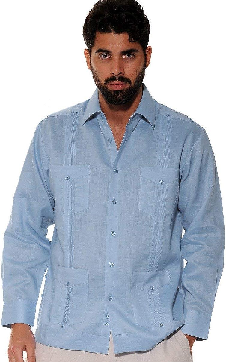 MCS1079 Bohio Mens Cotton Gauze White Beach Wedding Casual Long Sleeve Shirt