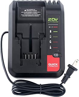 Elefly PCC692L 20V MAX Battery Charger for Porter Cable 20V Lithium Battery PCC685L PCC685LP PCC680L PCC699L PCC682L Black and Decker 20V Lithium Battery LBXR20 LBXR2020 LB2X4020-OPE