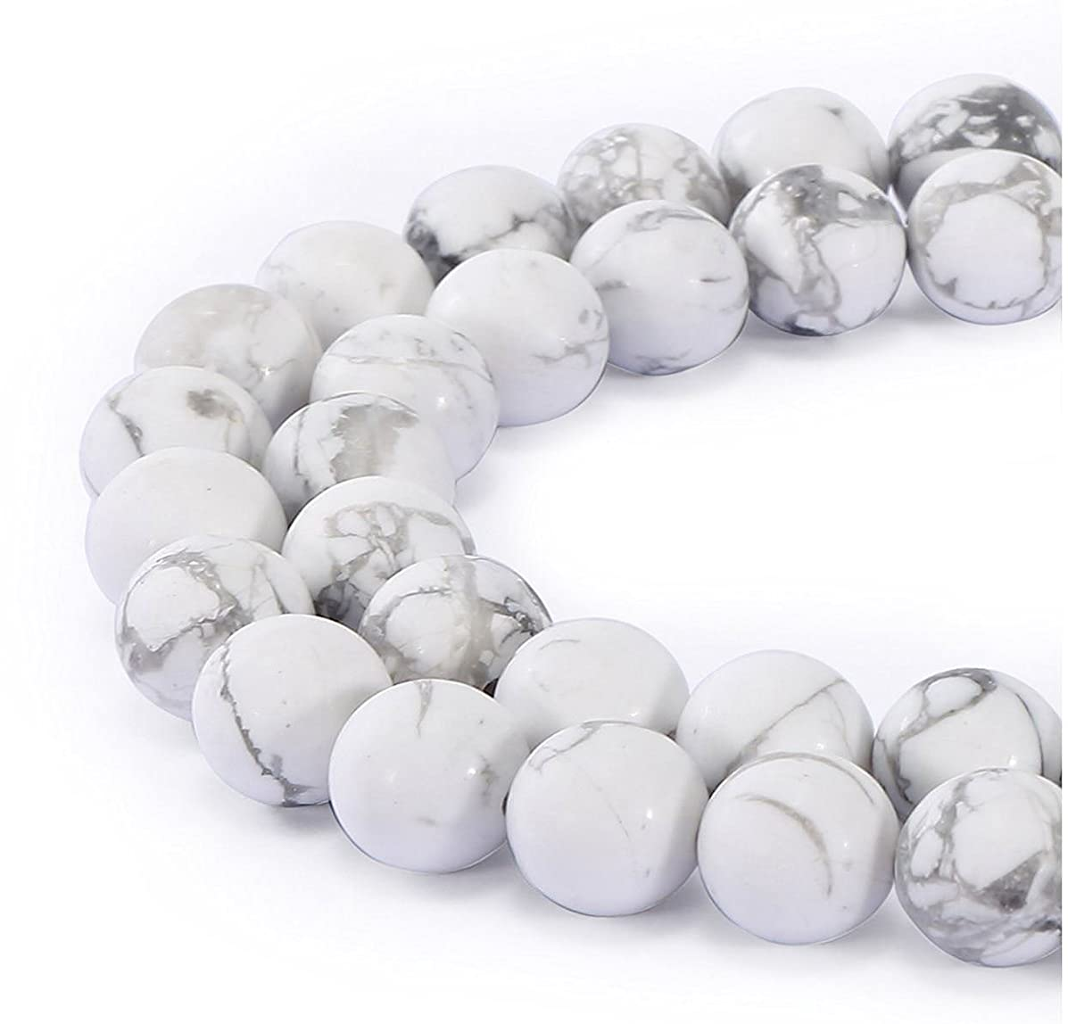 AAA Natural Howlite Gemstone 10mm Loose Round Beads Spacer Beads 15.5