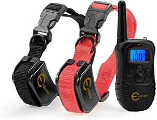 Esky Rechargable LCD Remote Control Dog Training Shock Collar with 100 Level Shock and Vibration