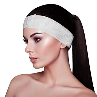 Appearus 100 Ct. Disposable Spa Facial Headbands with Convenient Closure for Beauty Professionals