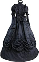 LY-VV Women's Gothic Lolita Dress Stand Collar Bowknot Victorian Dress Costume
