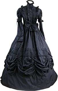 LY-VV Women`s Gothic Lolita Dress Stand Collar Bowknot Victorian Dress Costume