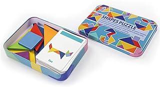 Tangram Kids toys Shapes Puzzle Early Education Intellectual Development Iron Box Children