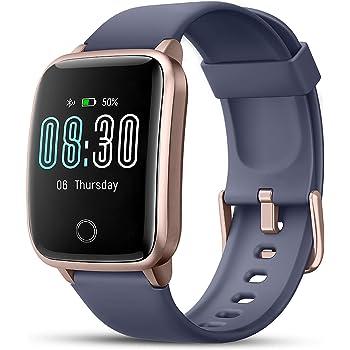 LIFEBEE Smartwatch Orologio Fitness Uomo Donna con Cardiofrequenzimetro da Polso Smart Watch GPS Impermeabile IP68 Sportivo Contapassi Cronometro Sveglia Activity Tracker Bambini per Android iOS