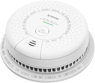 X-Sense Smoke Detector Alarm, Sees Both Fast and Slow Burning Fires, Fire Alarm with 10-Year Sealed Battery, LED Indicator & Silence Button, Auto-Check, Compliant with UL 217 Standard, SD03
