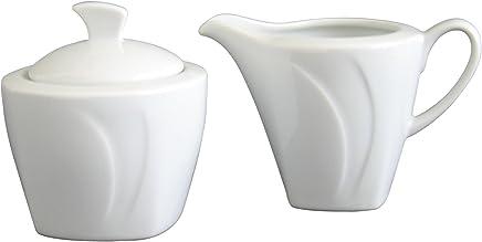 Preisvergleich für Creatable 13163, Serie Celebration Weiss, Zucker Set 2tlg Milch-und Zuckerset, Porzellan, 28 x 12 x 12 cm, 2-Einheiten