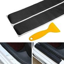 Big Autoparts 4 Pack Door Sill Protector 3D Carbon Fiber Anti-scuff Sticker Door..