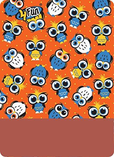 4 Fun Sports Polartec Tour de Cou tapacuellos, Enfants Taille Unique Multicolore - Rouge/Orange (Owl Orange)