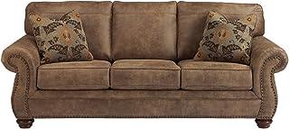 Signature Design by Ashley – Larkinhurst Contemporary Faux Leather Sofa w/ Nailhead..