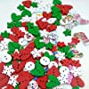 Colori misto Dipinte Bottoni Di Legno Fai Da Te Mestiere Scrapbooking Per Cucito E Natale Decorazione #2