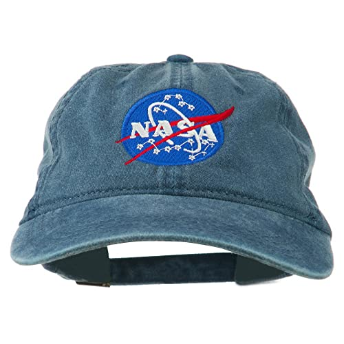 d584e1fc52bb0 e4Hats.com NASA Insignia Embroidered Pigment Dyed Cap - Navy OSFM
