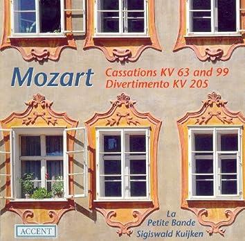 Mozart, W.A.: Cassations - K. 63, 99 / March in D Major / Divertimento in D Major