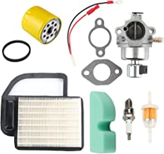 Mckin 20 853 33-S Carburetor with 20 083 02-S Air Filter Oil Filter for Kohler SV Courage SV470 SV480 SV530 SV540 SV541 SV590 SV591 SV600 SV601 SV610 SV620 Engine