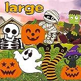 MISS FANTASY Halloween Yard Decorations 8 PCS Large Halloween Yard Stakes Halloween Lawn Stakes Decorations Cute Pumpkin Yard Sign Decor for Halloween Garden Decorations Outdoor
