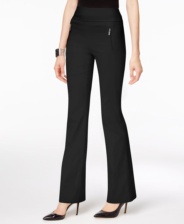 INC Womens Zip Pocket Casual Wide Leg Pants