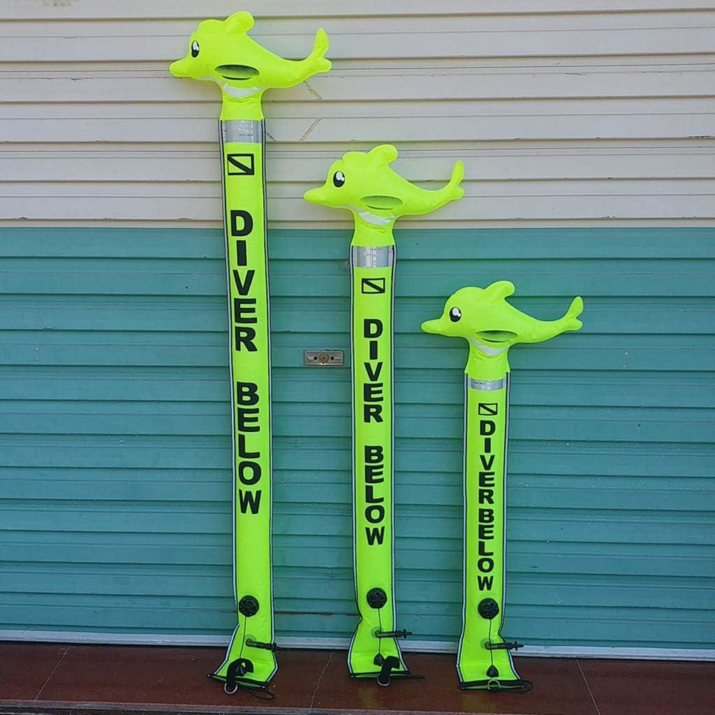 Tagli T TOOYFUL Scuba Diving SMB Marker Boa Apnea Scegli Colore Snorkeling Galleggiante Tecnico Gonfiabile Pesca Subacquea Perfetto per Subacqueo sotto