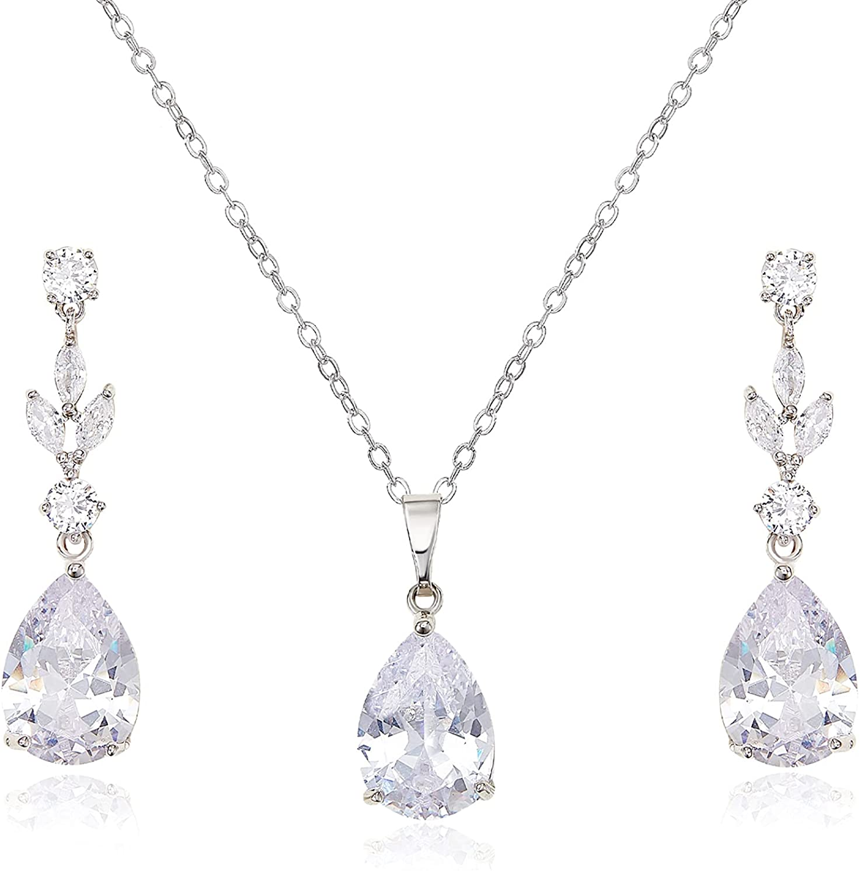 SWEETV Teardrop Charlotte Mall Wedding Jewelry Minneapolis Mall Sets Brides Bridesmaid for Women