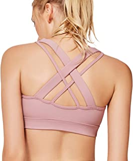 93b3768b7e8ad Yvette Padded Strappy Sports Bras for Women High or Low Impact for Large  Bust w