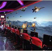 MJJBBH Mural De Papel Tapiz Autoadhesivo (W) 520X (H) 290Cm3D Papel Tapiz De Foto Visual Mural De Tema De Juego De Guerra Ktv Internet Cafe Box Tanques Y Aviones Militares