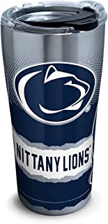 Tervis 1269590 Penn State Nittany Lions Knockout Stainless Steel Tumbler with Clear and Black Hammer Lid 20oz, Silver