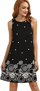 Romwe Women's Summer Sundress Floral Printed Sleeveless...
