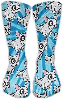 Bigtige, Bulldog francés Tie-dye Classics Calcetines personalizados Sport Athletic Medias 50cm Long Sock para hombres mujeres