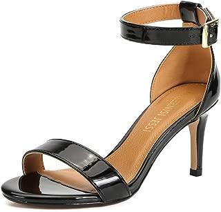 MAIERNISI JESSI Unisex Men's Women's Sandals Ankle Strap Kitten High Heel