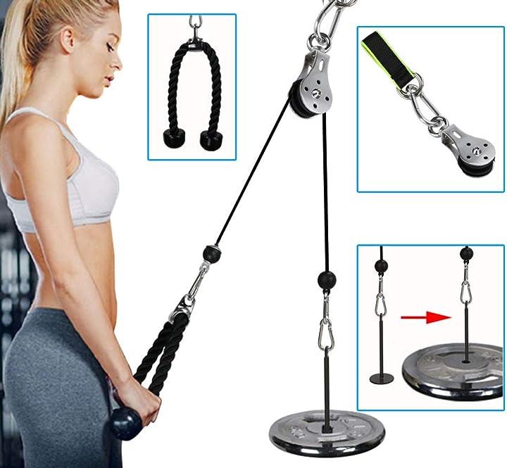 Allenamento tricipiti rullo puleggia  pellor BLQC68 rullo per allenamento braccia