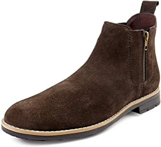 Bacca Bucci® Chelsea high end Urban Fashion Brewster Slip-on Boots Genuine Smooth Leather Suede for Men