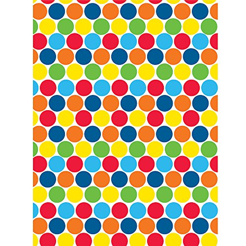 Creative Converting Colorful Polka Dots Photo Backdrop, 4.5ft x 6ft, Multicolor