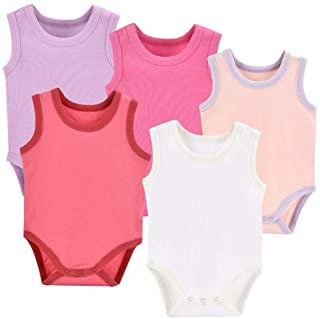 Infant/Toddler Baby Girls Boys Sleeveless Onesies Tank Top Cotton Baby Bodysuit Pack of Summer Baby Clothes Outfit