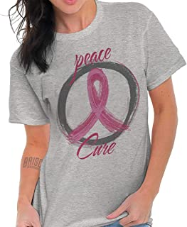 Peace Breast Cancer Awareness Graphic Gift T Shirt Tee