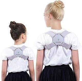 Smart Posture Correctorfor Adults and Kids,Universal Sensor Posture Corrector, Intelligent Posture Reminder, Vibrateto Improve Posture, Slouch Humpback Bracefor Women and Men
