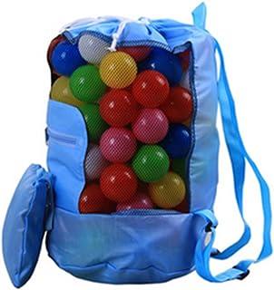 Wonque Bolsa de almacenamiento para la playa con cordón mochila bolsa juguetes bolsa de malla al aire libre para niños ple...
