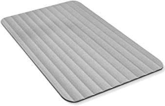 MICRODRY All Natural DryStone Quick-Drying Bath Mat, 18x23, Grey
