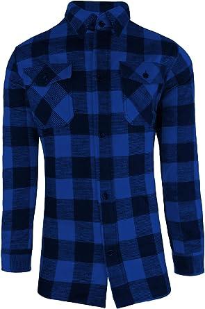 Leñador Camisa / 100% Algodón / espesor Calidad / S - 3XL