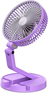 Blue Acamifashion Portable Travel Angle Adjustable USB Charge Cooling Fan Cooler with Desk Base