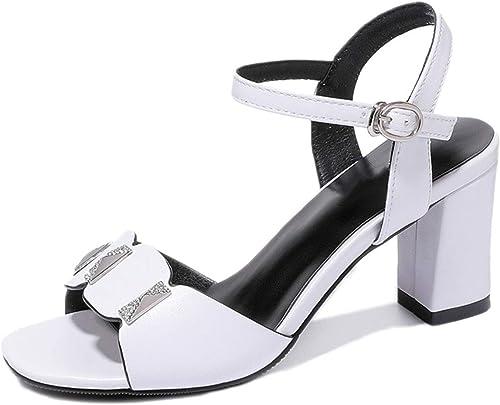 Sandales à Talons Hauts pour Femmes, d'été, Bout Ouvert, Sandales à Bride à la Cheville, en Plein air