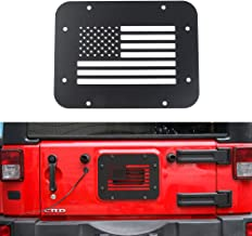 JeCar Black Steel Tailgate Vent-Plate Cover for 2007-2018 Jeep Wrangler JK & Unlimited (USA Flag)