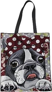 850bc64f292b Amazon.com  boston terrier - Totes   Handbags   Wallets  Clothing ...