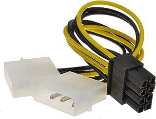 8 Pines PCI Express PCIe Energía Cable De Dual 4 Pines Molex LP4 Adaptador