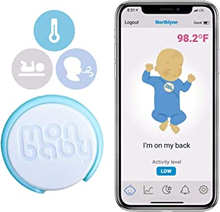 MonBaby (T) Sleep Monitor: Breathing, Rollover, Body Temperature Monitoring for Babies: Track Baby's Breathing, Sleeping P...