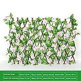 rosemaryrose Recinzione da Giardino Pannelli reticolari Traliccio per Piante rampicanti - Siepe in Legno con Fiori Artificiali Foglie Decorazione del Giardino - Schermatura
